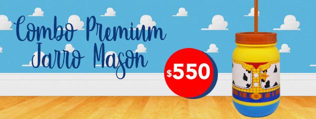 Combo Premium Jarro Mason TOY STORY 4