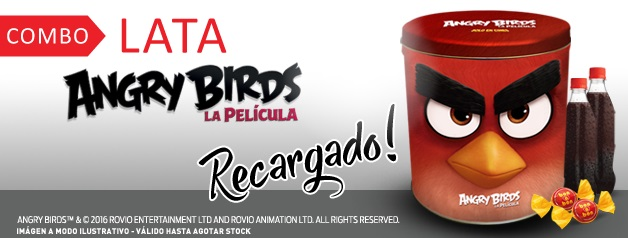 COMBO LATA ANGRY BIRDS