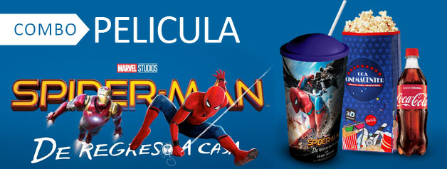 COMBO PELICULA SPIDERMAN 3D