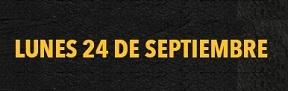 HORARIO ESPECIAL 24 DE SEPTIEMBRE